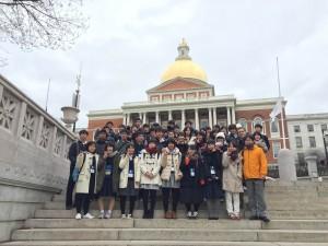 マサチューセッツ州議事堂前で