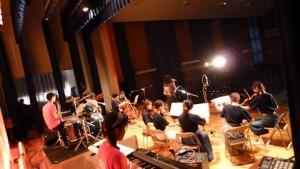 弦楽部と合同