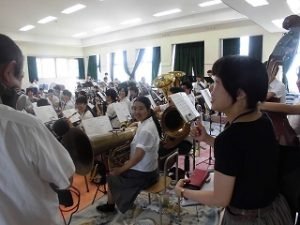 吹奏楽部の取材