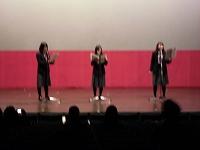 舞台でリアルタイムラジオドラマ・リバ女をやりました!初めての試みです。2年生よく頑張りました。
