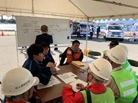 避難所開設・運営訓練の様子