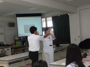 9月30日(月) 3年類型「地域福祉計画実践」特別授業「リハビリテーション・ボディメカニクス」