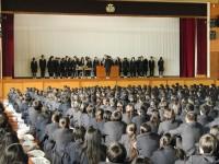 2014年12月24日全校集会表彰伝達風景1