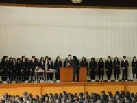 2014年12月24日全校集会表彰伝達風景2