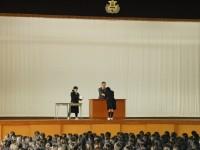 2014年12月24日全校集会表彰伝達風景3