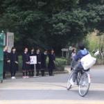 生徒会朝のあいさつ運動