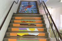 階段アート設置終わりました