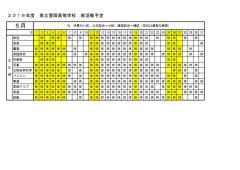 豊岡高校:部活動月予定(5月分)文化部のサムネイル