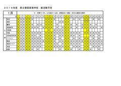 豊岡高校:部活動月予定(1月分)文化部のサムネイル