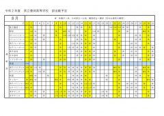 豊岡高校:部活動予定8月(運動部のサムネイル
