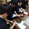 3年 選択Ⅳ 「日本の文化」 授業風景